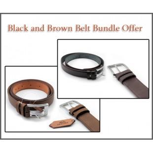 Black And Brown Belt Bundle Offer price in Pakistan