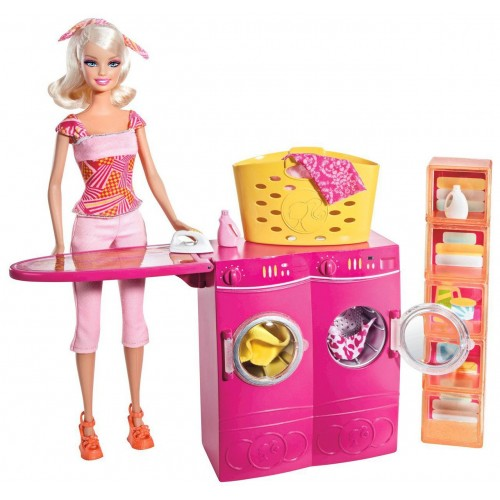Spin To Clean Laundry Room And Barbie Doll Set Sku Brb T7182 Price