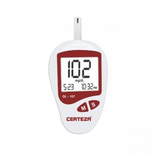 Blood glucose monitor with 25 strips (1x25 vial) GL 107 price in Pakistan