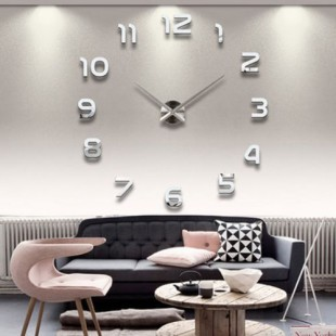 Modern DIY Large 3D Roman Mirror Effect Wall Clock - 01 price in Pakistan