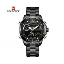 NAVIFORCE NF9133 B/B/W ANALOG - DIGITAL STAINLESS STEEL WATCH FOR MEN