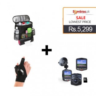Deal 13 Innoo Tech Car Video Recorder + LED Glove Lite + Car Seat Hanging Organizer price in Pakistan