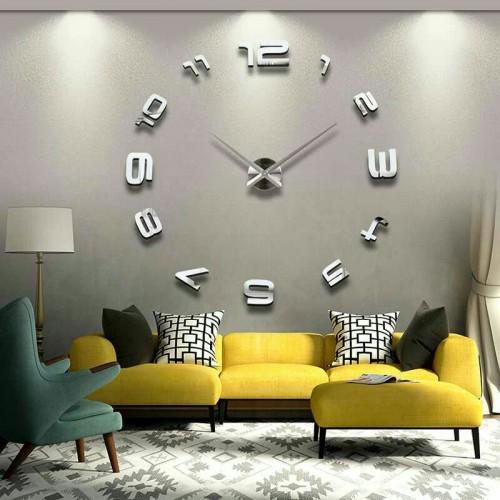 modern diy large 3d mirror effect wall clock price in pakistan at