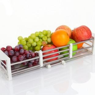 Stainless Steel Kitchen Sink Shelf Bowl Rack Retractable Drain Rack price in Pakistan