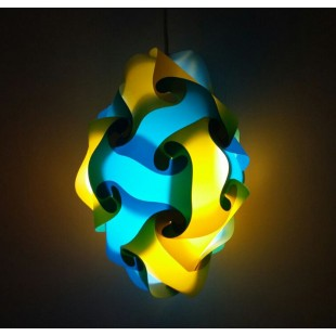 Diamond Jigsaw Lamp Blue and Yellow price in Pakistan