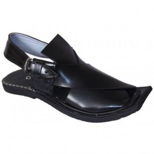 Black Peshawari Shine Polish Sandals price in Pakistan