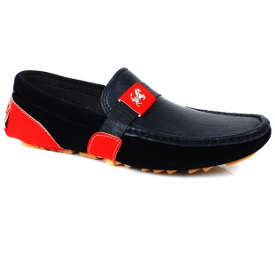 Furry Black & Red Casual Loafers SYB-1101 price in Pakistan