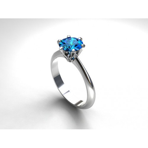 Blue Zircon White Gold Plated Ring price in Pakistan Paras