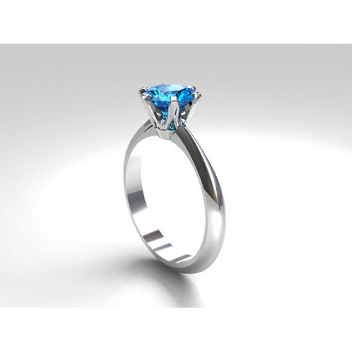 WHITE GOLD PLATED AQUA TENZANITE ZARCOON RING price in Pakistan