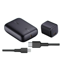 AUKEY On-the-go Bundle (Wall Charger, Powerbank, Cable) -Black