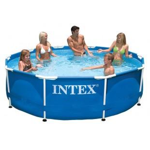INTEX 10ft X 30in Round Metal Frame Pool - 28200 price in Pakistan