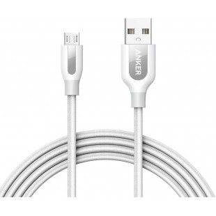 Anker POWERLINE+ MICRO USB Android Data Cable 6ft White A8143H21 price in Pakistan
