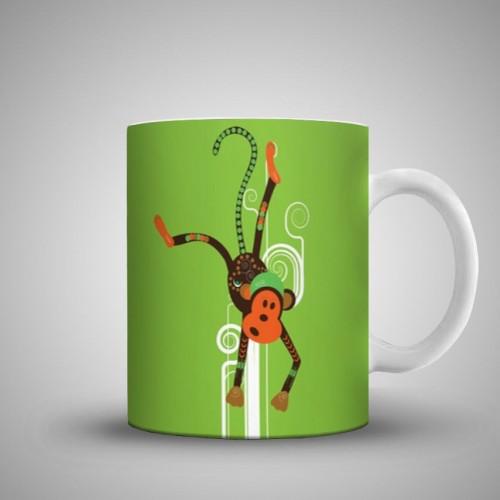 Funny Monkey Art Printed Mug MUGANY906