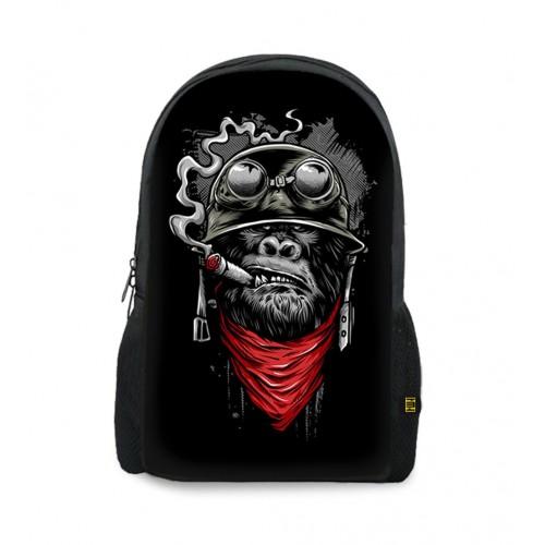 Pilot Monkey Art Printed Backpacks BG-89