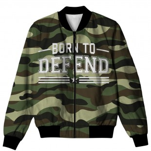 BORN TO DEFEND ALL OVER PRINTED JACKET AO-JACKET-60 price in Pakistan