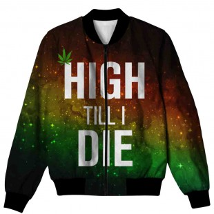 HIGH TILL I DIE ALL OVER PRINTED JACKET AO-JACKET-99 price in Pakistan