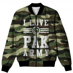 I LOVE PAK ARMY ALL OVER PRINTED JACKET AO-JACKET-62 price in Pakistan