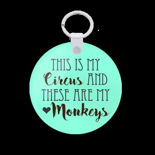 Monkeys Printed Keychain kc-570