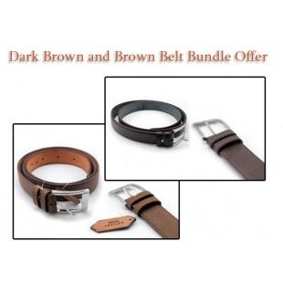 Dark Brown And Brown Belt Bundle Offer price in Pakistan