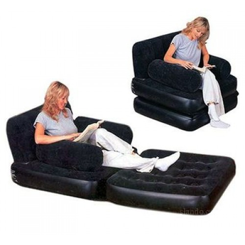 Air Sofa Rate: Bestway Inflatable 2in1 Air Bed Mattress Chair Lounge Sofa