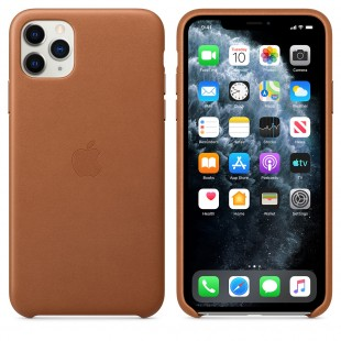 Apple iPhone 11 Pro Max Leather Case - Saddle Brown price in Pakistan