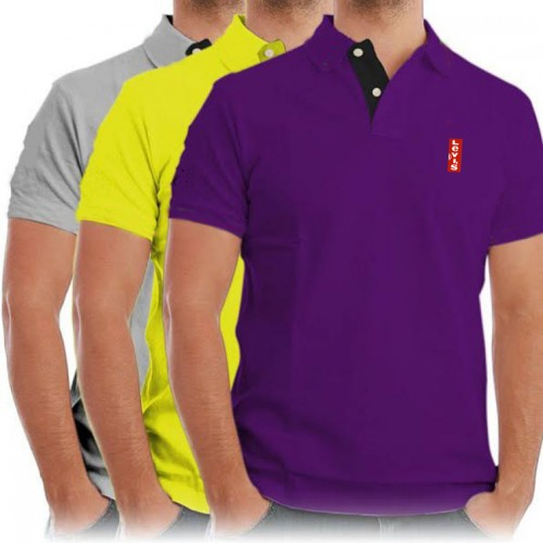 8a629755 Pack Of 3 Levis Casual Polo Shirts (Blue , Mehroon , Black) price in ...