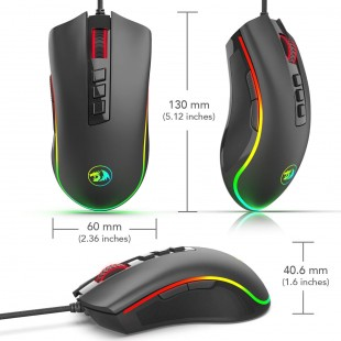 Redragon COBRA Gaming Mouse with 16.8 Million RGB Color Backlit, 10,000 DPI Adjustable, Comfortable Grip, 7 Programmable Buttons M711  price in Pakistan