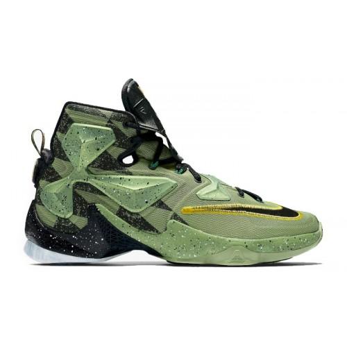 super popular f8c62 d1ae8 Nike Lebron 13 Green Sports Shoes SYB-1242