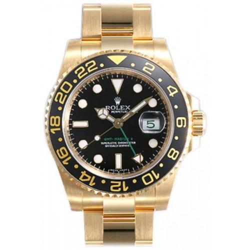 Rolex GMT Master II 18K Yellow Gold Watch