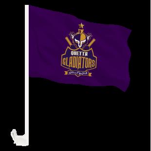 Queeta Gladiators Flag - Pakistan Super League with Holder Clip  price in Pakistan