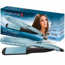 Remington RES7350,Remington Hair Straightener Wet2Straight Wide Plate S7350, Blue,