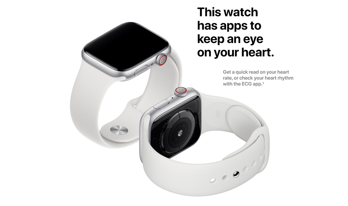 Apple iWatch Series 5 40mm - Aluminum Case with Sports Band GPS+Cell